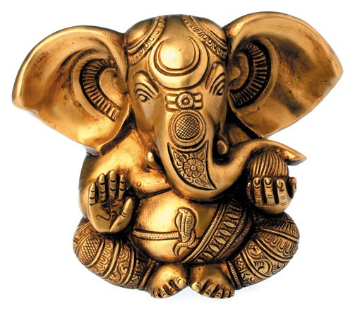 Ganesha, Messing, 13 cm