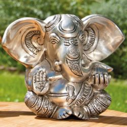 Ganesha, versilbert 13 cm