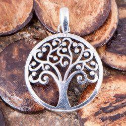 Yggdrasil - Weltenbaum Anhänger, versilbert