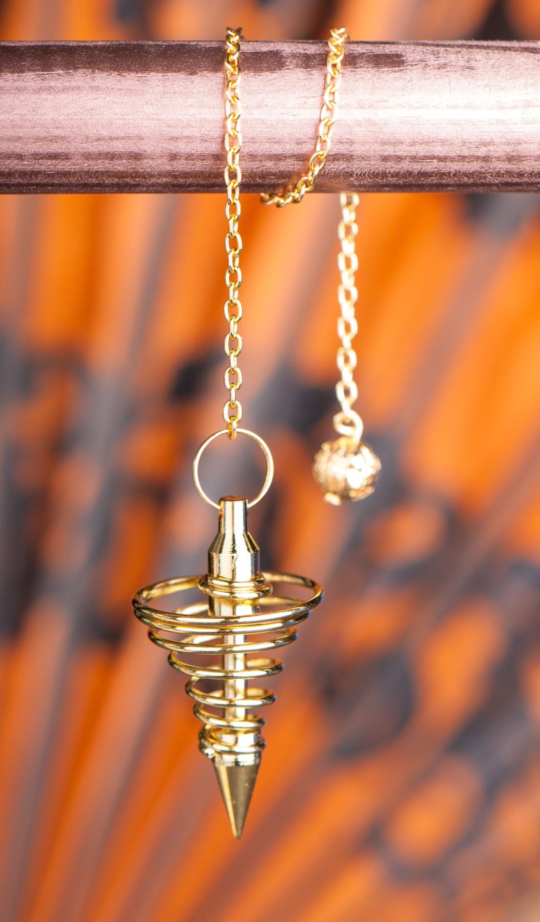 Spiralpendel, vergoldet