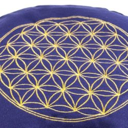 Blume des Lebens Meditationskissen lila