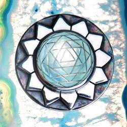 Shri Yantra Bergkristall Anhänger